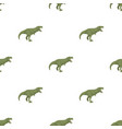dinosaur tyrannosaurus icon in cartoon style vector image