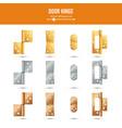 door hinge set classic and industrial vector image vector image