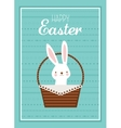 Easter bunny with Easter basket full of Easter vector image vector image