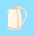 electric kettle flat style vector image vector image