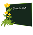 flowers with card board frame vector image vector image