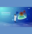flu or coronavirus laboratory medical covid19 lab vector image