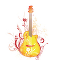 funk guitar graphic vector image vector image
