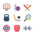 games and sport colored trendy icon pack 2 vector image vector image