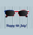 glasses design of the american flag vector image vector image
