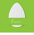 Green Card for Easter vector image vector image