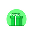 green linear reward simple logo vector image