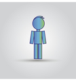 Icon blue stick figure man male vector image vector image