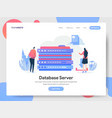 landing page template database server concept vector image vector image