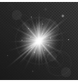 Light flare star explosion with glowing sparkles vector image vector image