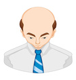 Man lossing hair diagram vector image