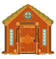 maple cabin cartoon vector image vector image