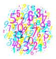 mathematics background - group random different vector image