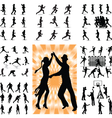 mix people silhouette vector image vector image