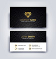 modern dark and clean business card template vector image vector image