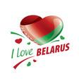 national flag belarus in shape