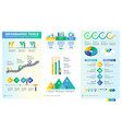 pack infographic elements vector image vector image