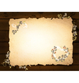 paper at dark wooden background vector image vector image