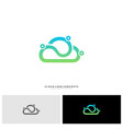 people cloud logo design concept modern cloud vector image