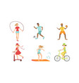 people doing different kinds sports set hockey vector image vector image