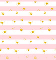 pink gold striped seamless pattern vector image vector image