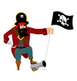 pirate hook and cannon eye patch and smoking pipe vector image vector image