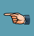 pointing male hand business concept in pop art vector image