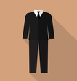 Professional suit flat icon vector image vector image