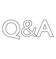 question amp answer icon vector image