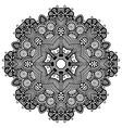 round ornamental geometric doily pattern vector image