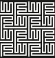 seamless labyrinth print vector image
