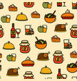 seamless thanksgiving pattern vector image vector image
