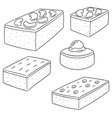 set of brownie vector image vector image