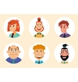 Set of diverse round avatars isolated on white vector image vector image