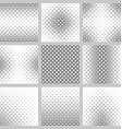 Set of nine diagonal square pattern designs vector image