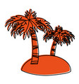 small island with palm trees icon image vector image vector image