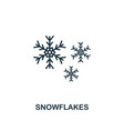 snowflake icon premium style design from vector image