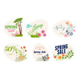 spring sale labels collection vector image vector image