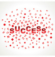 Success word with in alphabets vector image vector image
