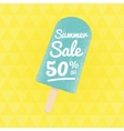 Summer Sale 50 per cent off vector image vector image