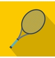 Tennis racket icon flat style vector image vector image