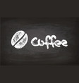 text and coffee bean chalk sketch vector image