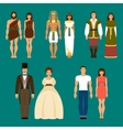 The history of human development vector image vector image