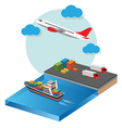 Transports and Logistics Industry vector image