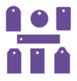 violet tag collection vector image vector image
