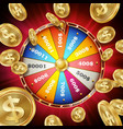 wheel of fortune poster spinning lucky vector image vector image