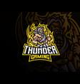 zeus mascot sport logo design vector image