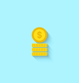Flat Icon of Golden Coins vector image