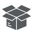 open box glyph icon e commerce and marketing vector image