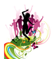 retro abstract silhouettes vector image